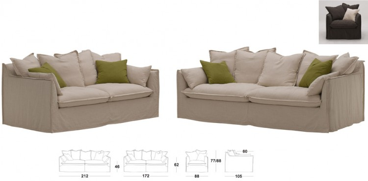 Fabric Sofas Marvin 3 2 1