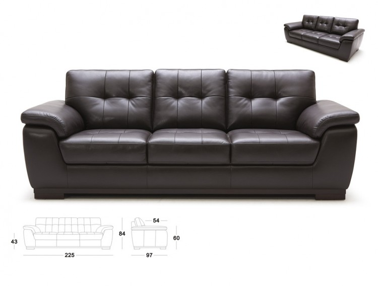 Mimosa Furniture | Romero (3-2-1-1 leather couch)
